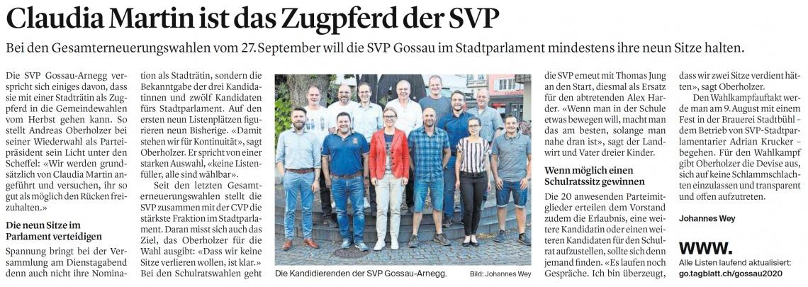 Mit Stadträtin Claudia Martin als Zugpferd (Donnerstag, 09.07.2020)