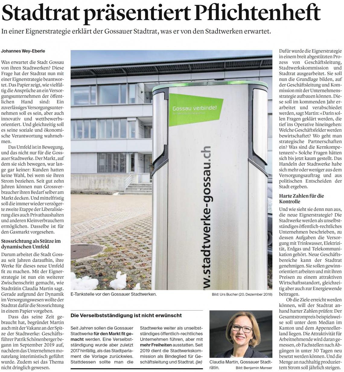 Stadtrat präsentiert Pflichtenheft (Dienstag, 15.12.2020)