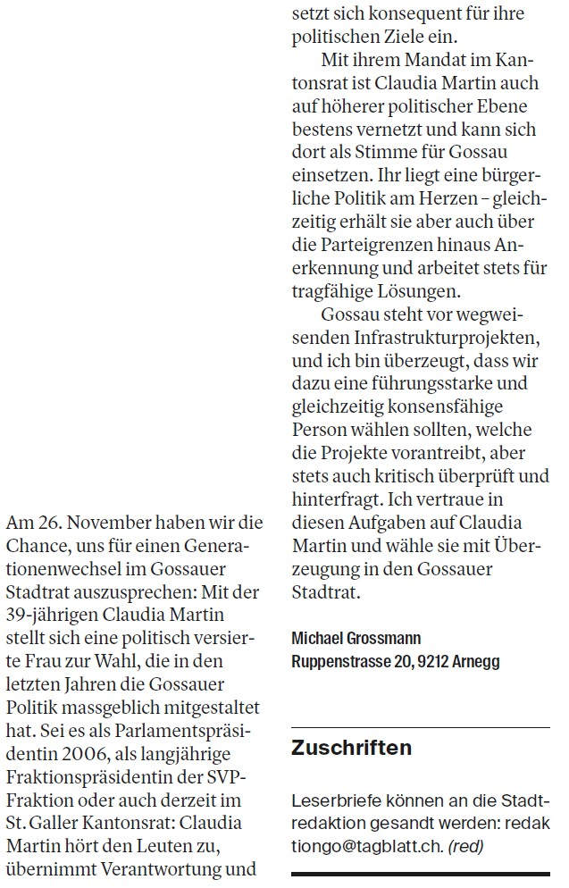 Politisch versiert und konsensfähig (Donnerstag, 09.11.2017)